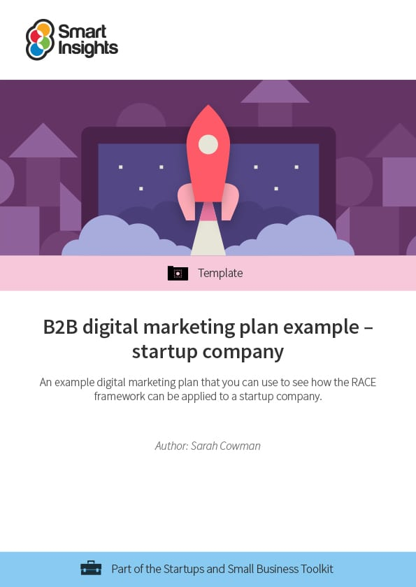 b2b digital marketing plan example startup company smart insights