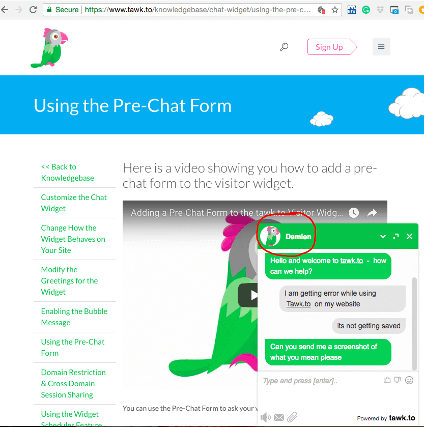 Tawk.to-chatbot