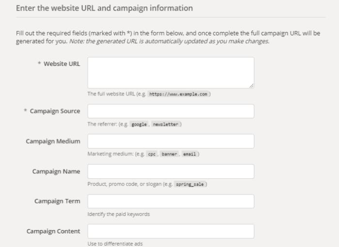 URL info