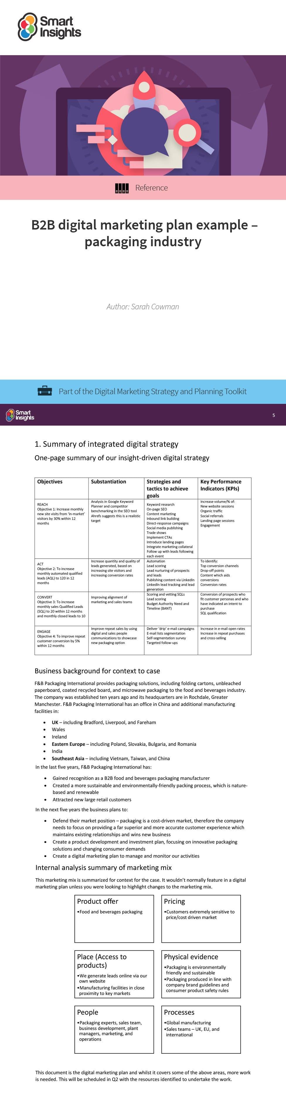 digital marketing plan packaging insidelook v2