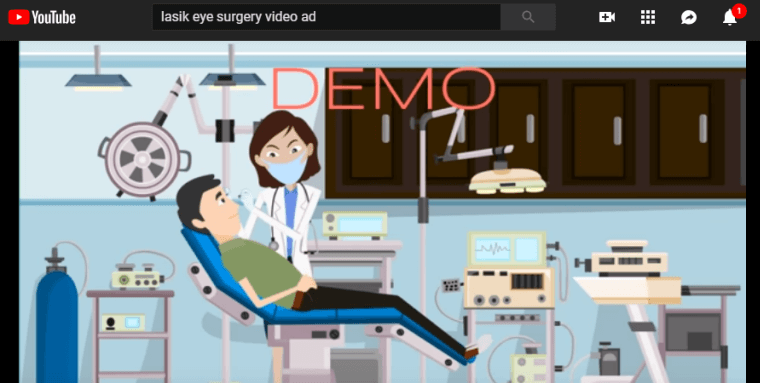 lasik eye surgery video ad