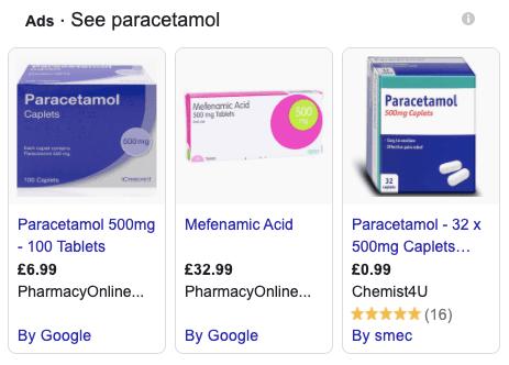 Anúncios gráficos de marketing farmacêutico