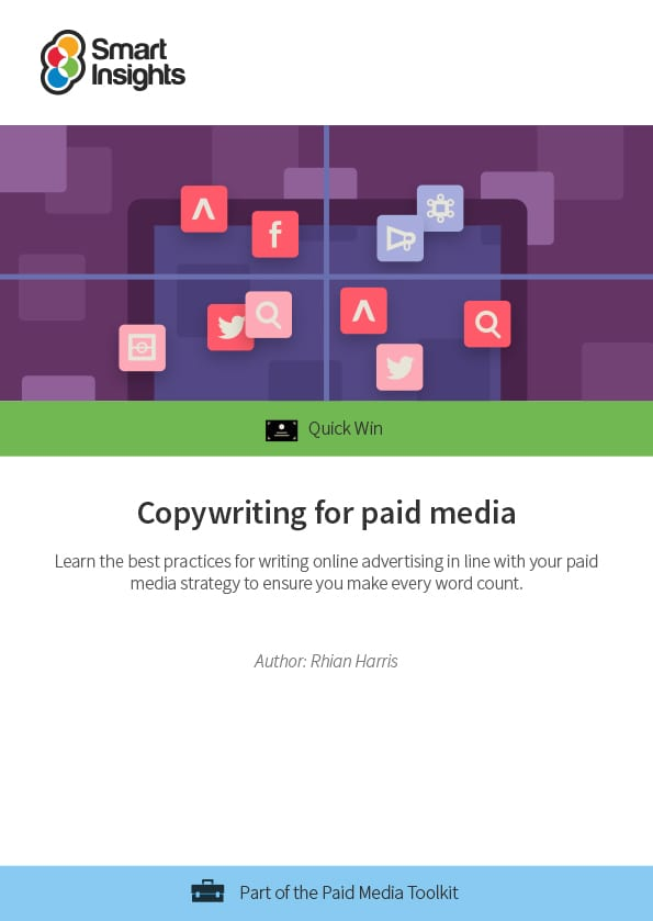 Copywriting for paid media | Smart Insights
