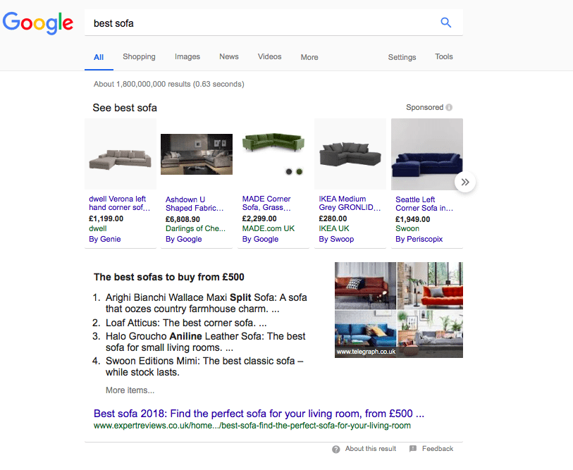 Best Sofa Google search