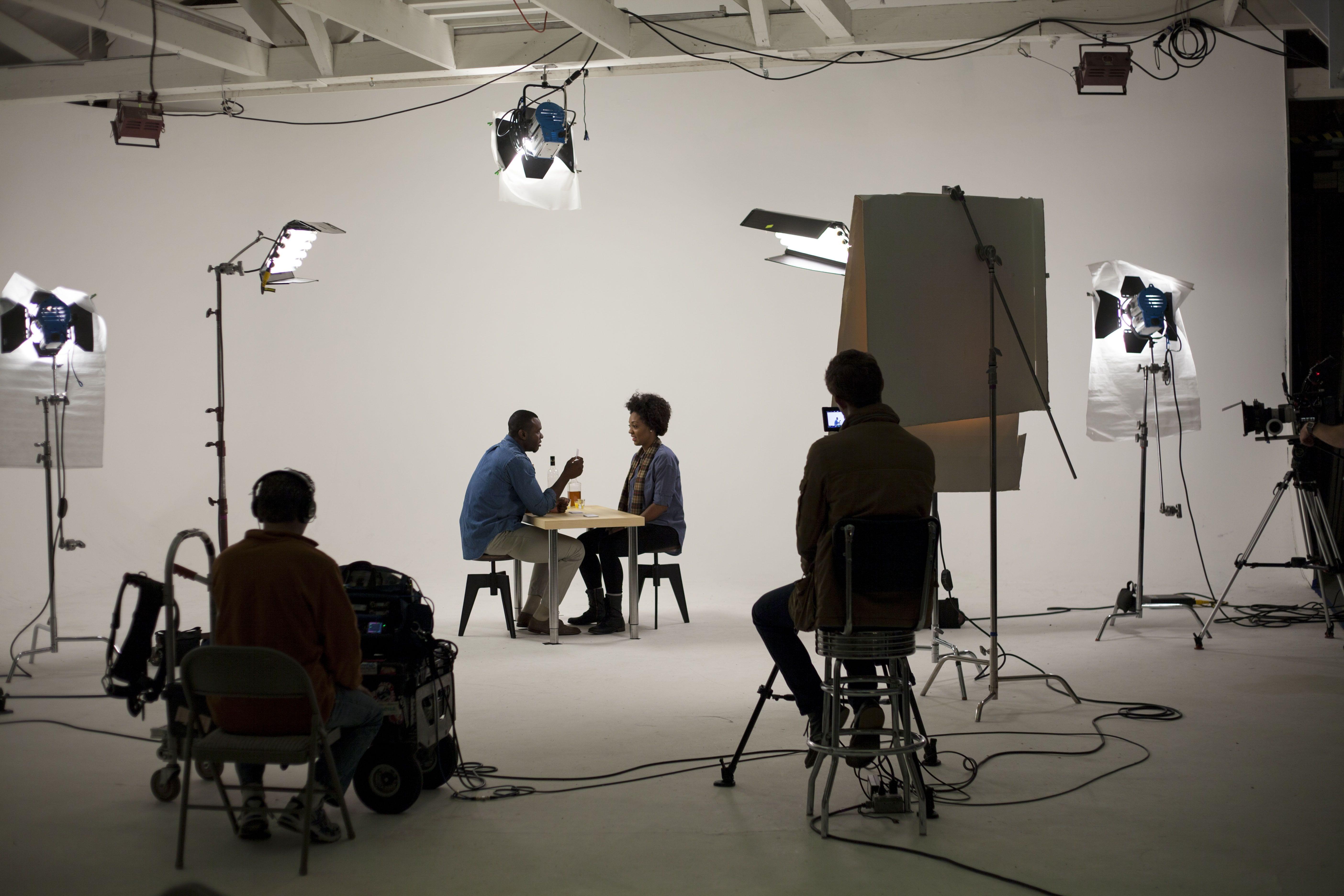 Crew filming video