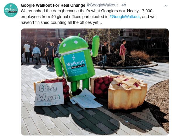 Google Walkout Tweet