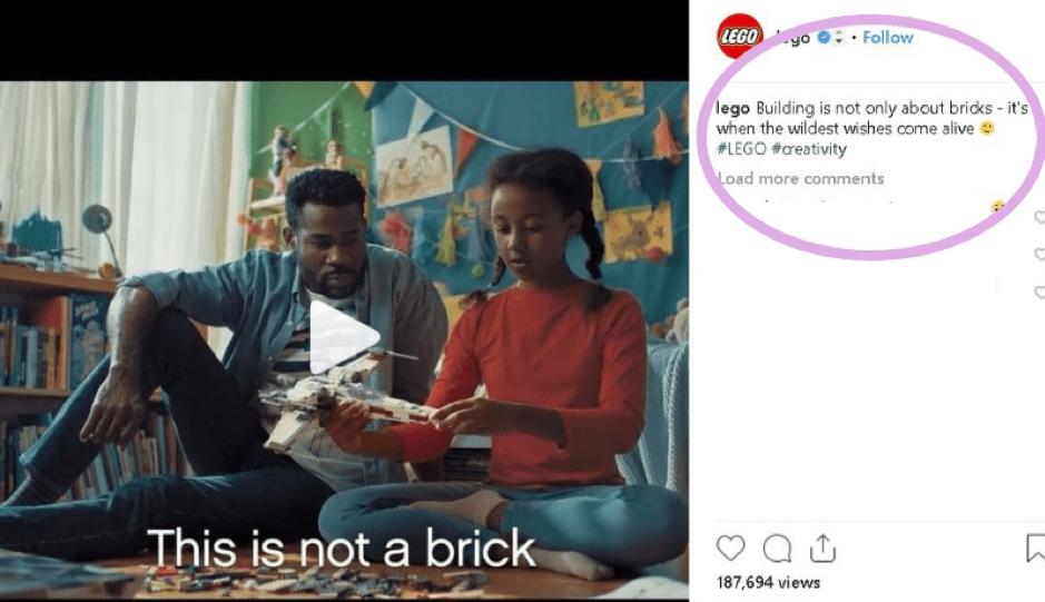 Lego social media post