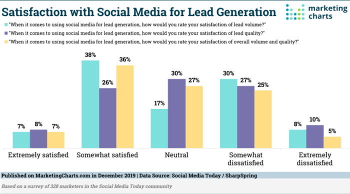 Satisfaction with social media lead generation