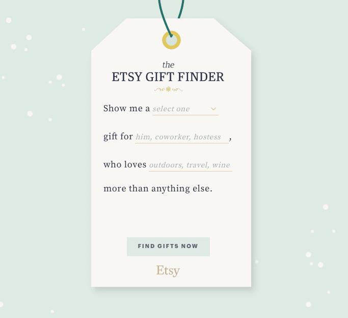 Etsy & Pinterest gift finder
