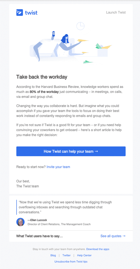 Twist email example