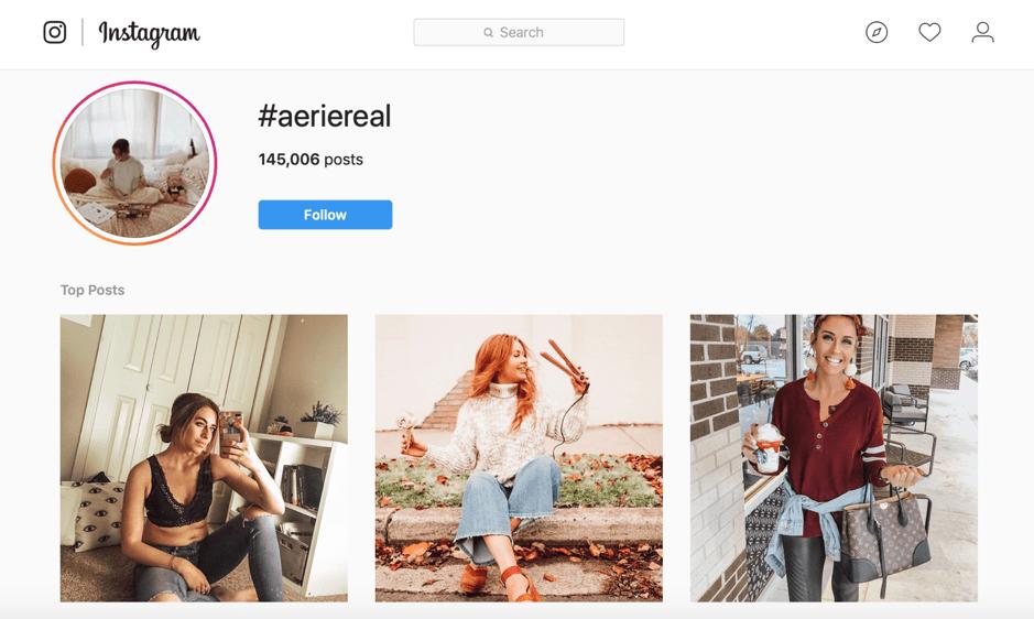 #aeriereal Instagram posts