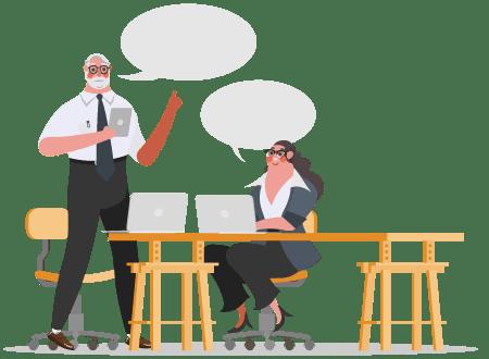 Content discussion illustration