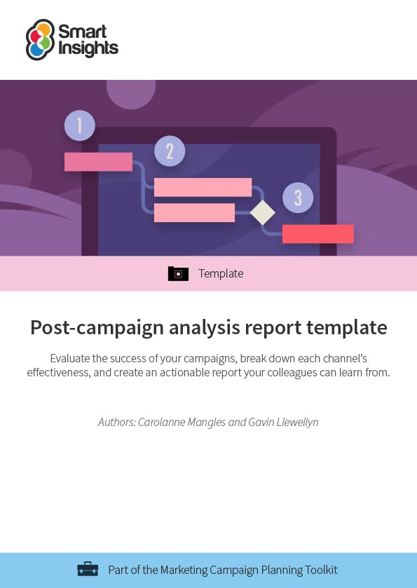 post campaign analysis report template smart insights