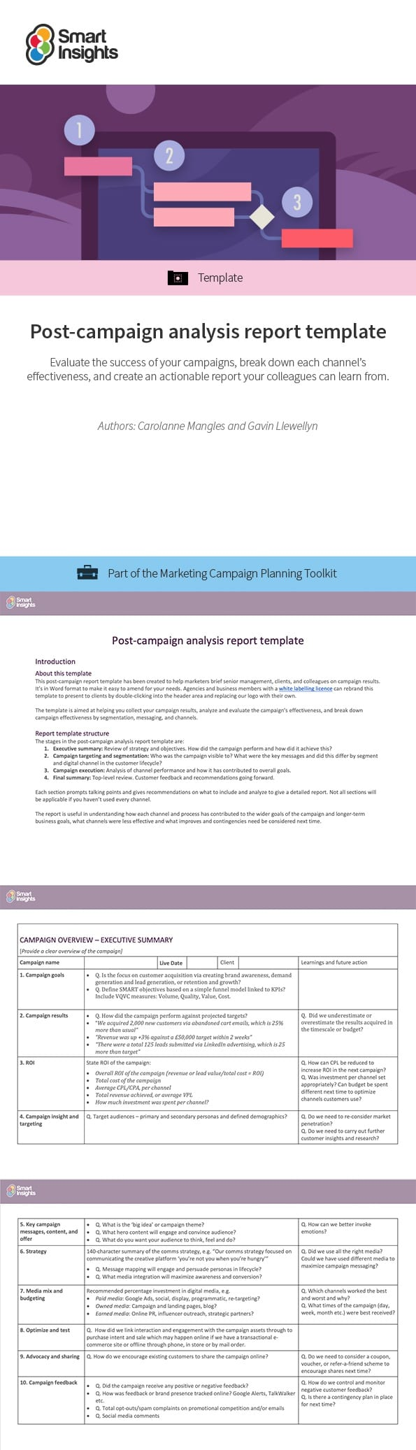 Post Campaign Analysis Report Template