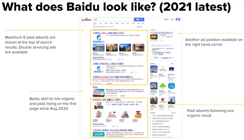 Baidu desktop look like 2021