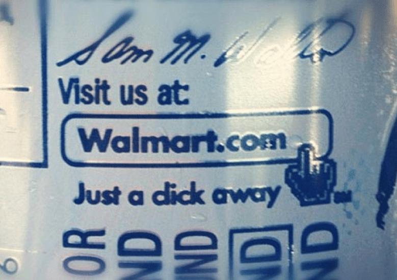 Walmart advert