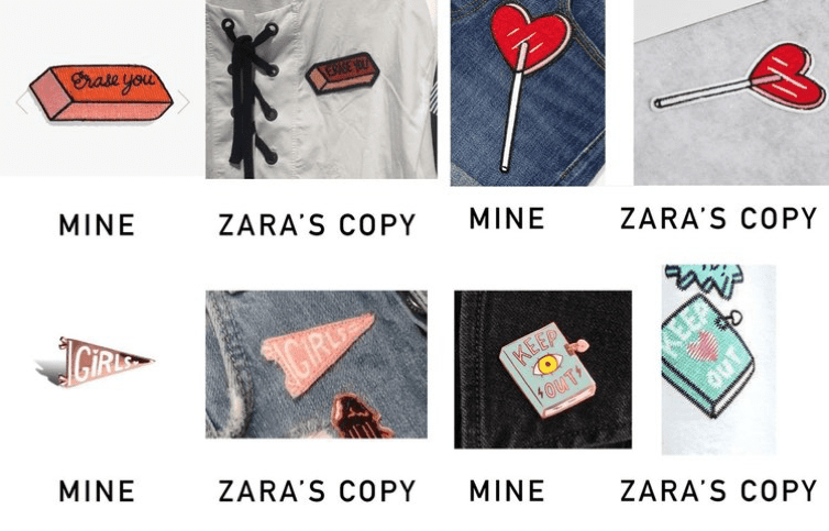 Zara copied products