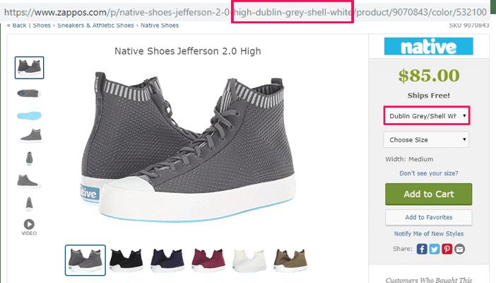 e-commerce URL example 1