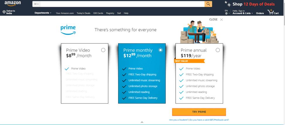 Amazon Prime price breakdown