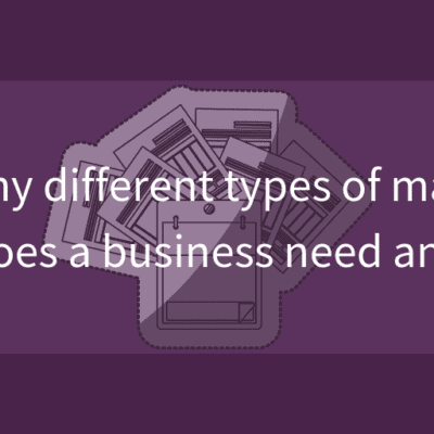 How many different types of marketing plans does a business need and why_