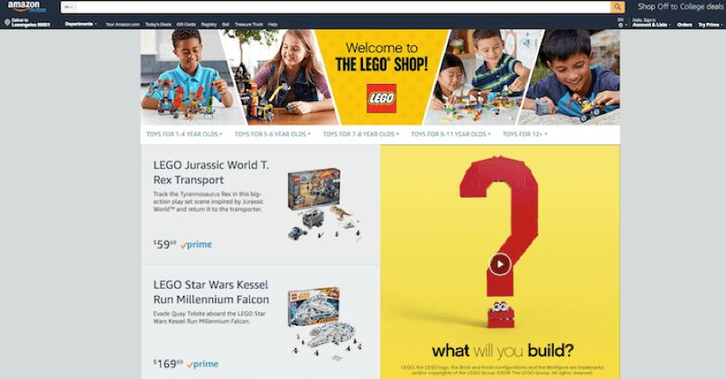 Lego storefront video