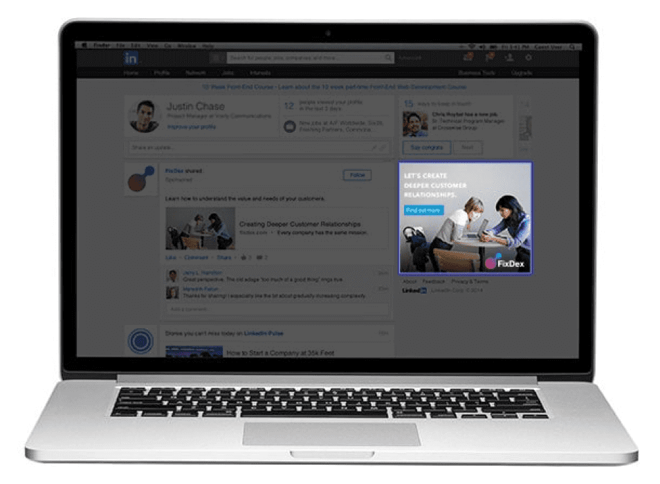 Programmatic display ad on LinkedIn