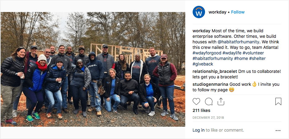 Workday Instagram post