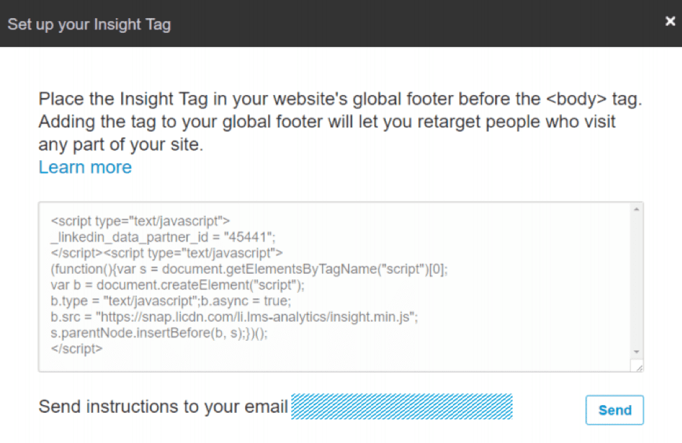 Setting up an Insight Tag