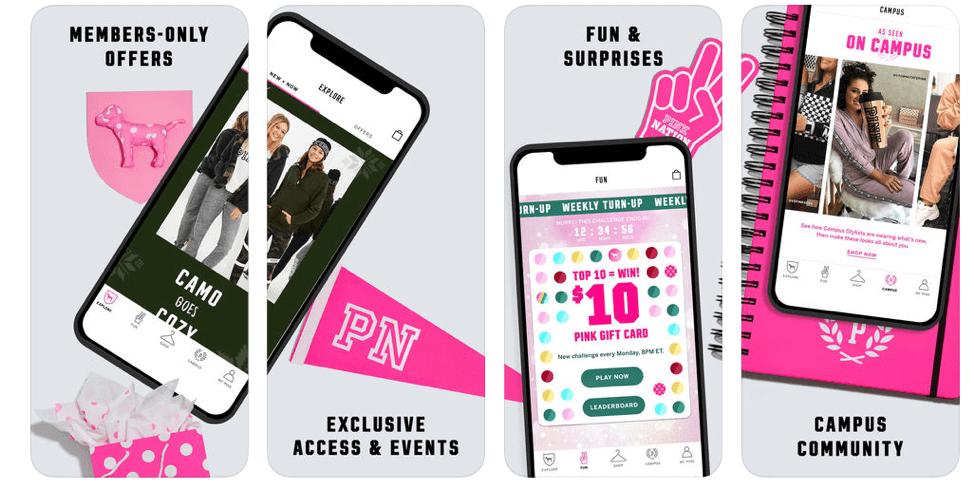 Victoria's Secret Pink Nation app