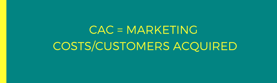 CAC + Marketing cost:customers acquired