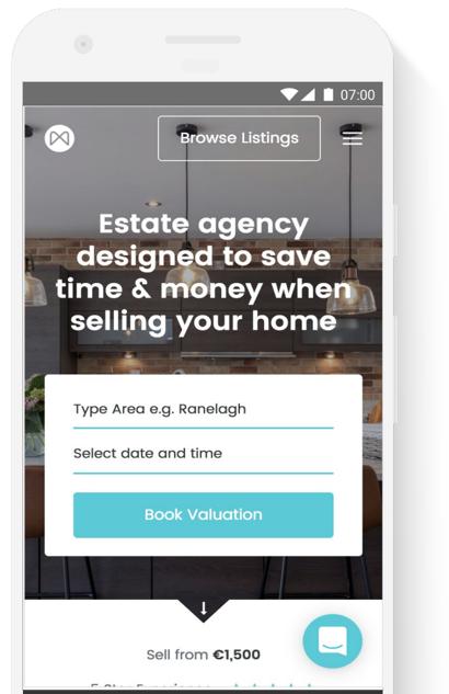 Moovingo mobile homepage