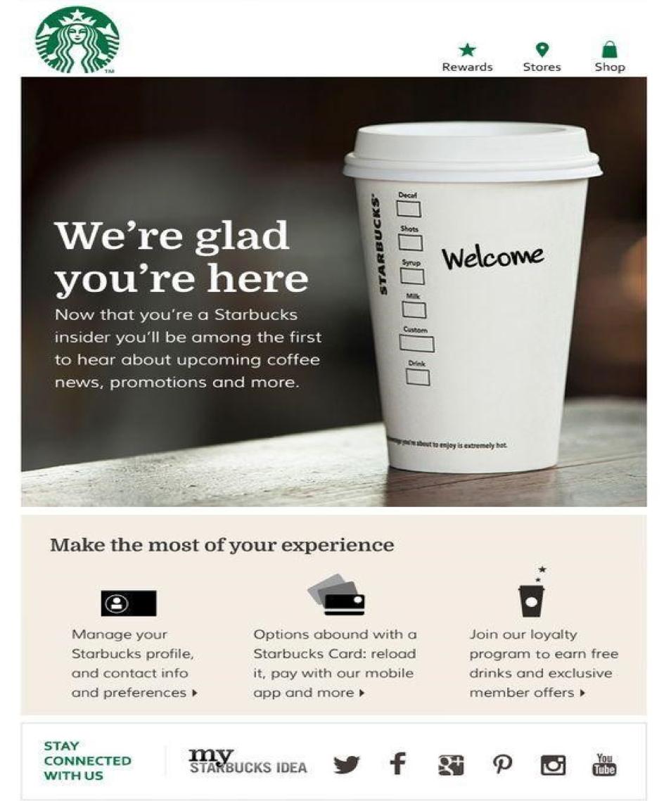 Starbucks triggered email