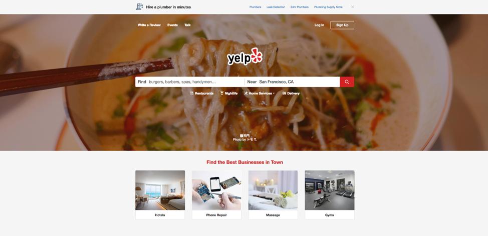 Yelp web directory