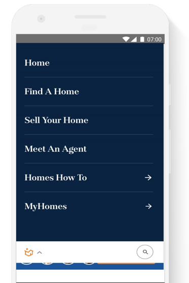 home.com mobile navigation