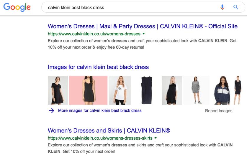 Calvin Klein best black dress
