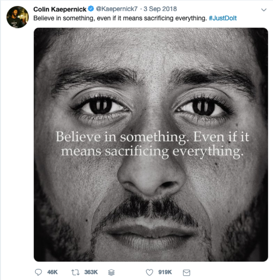 Colin Kaepernick Nike campaign