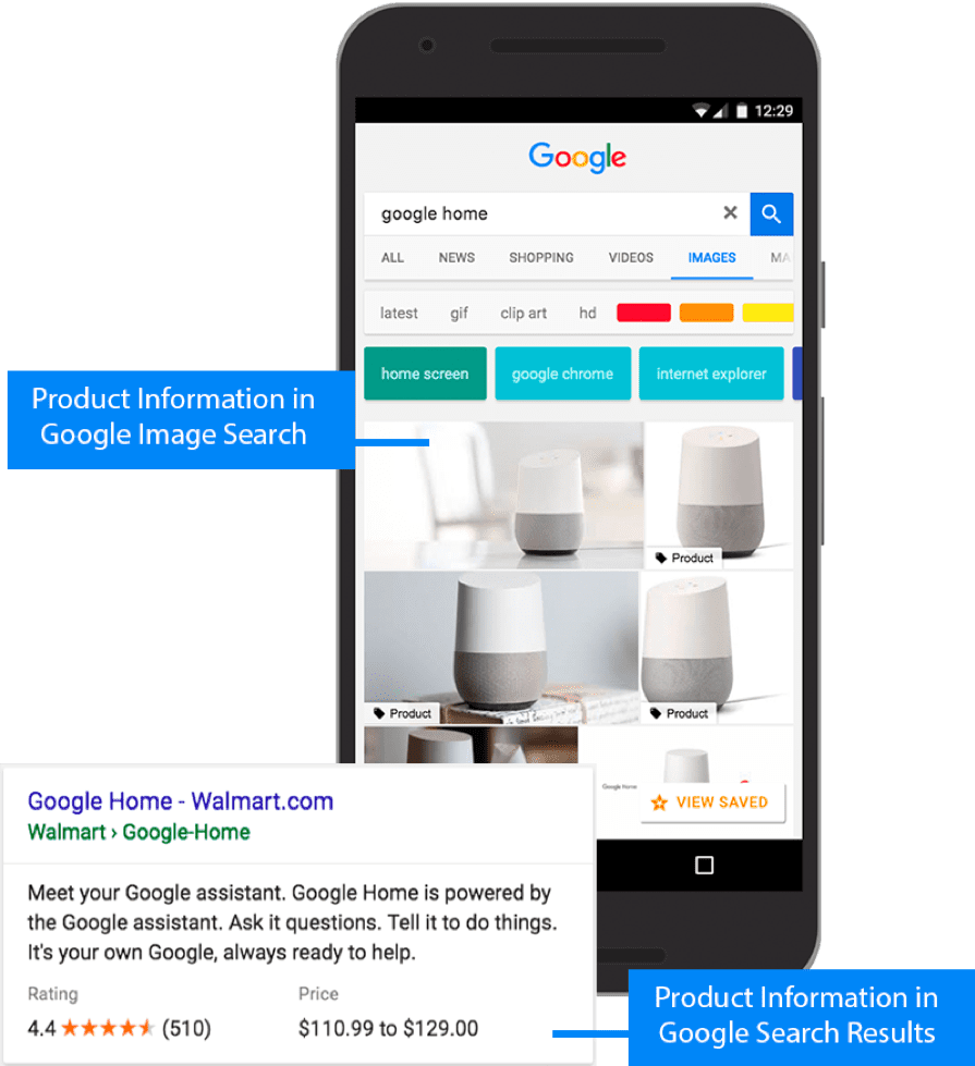 Detailed product information in Google search