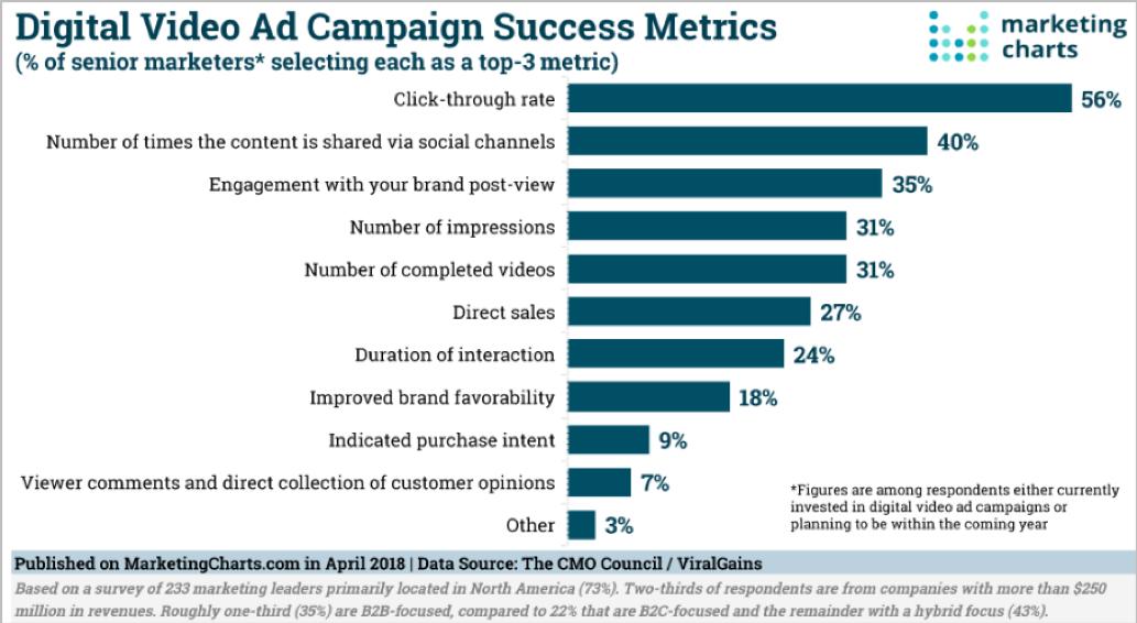 Digital video ad campaign success metrics