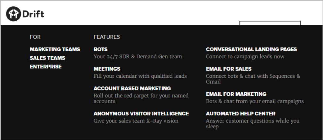 Drift chatbot service