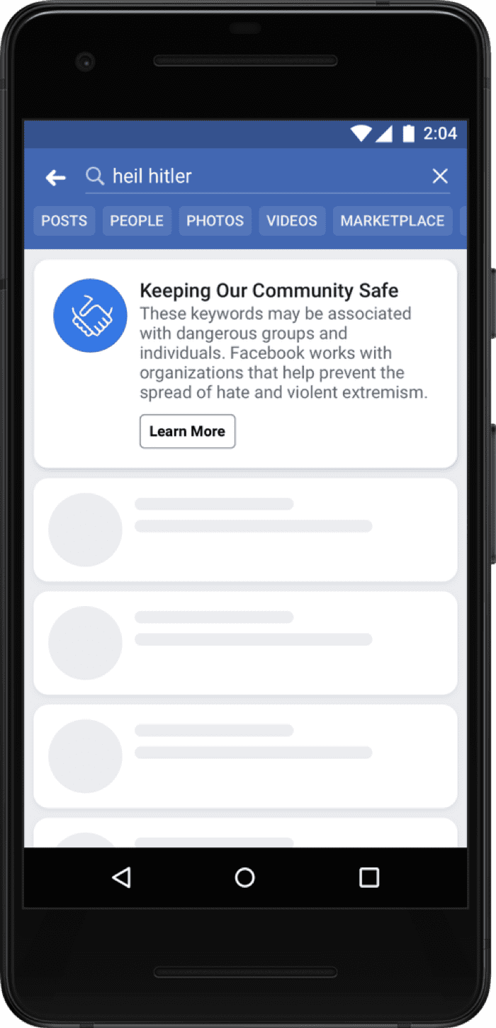 Facebook Keeping Our Community Safe