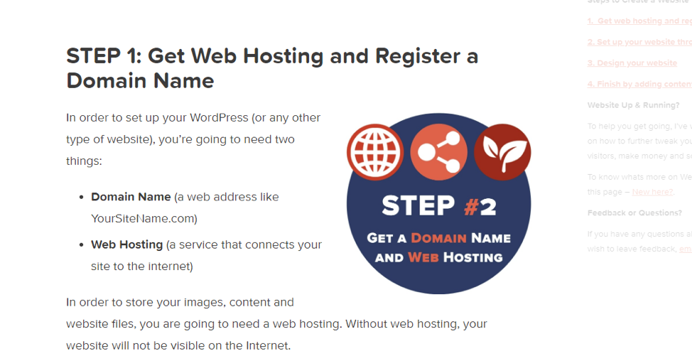 Get web hosting and register a domain name