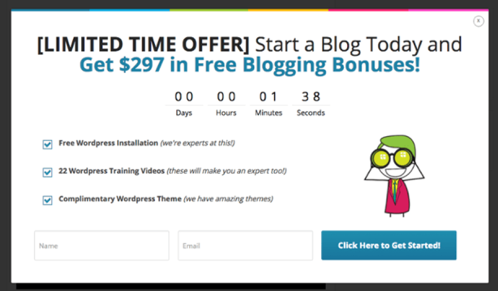 Limited time offer call to action