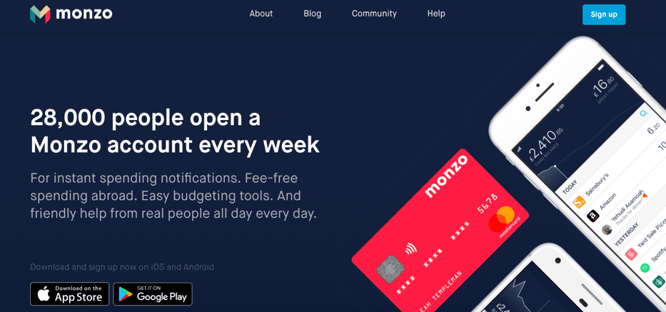 Monzo advert
