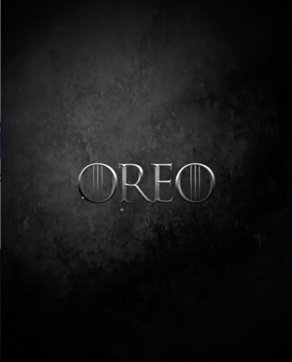 Oreo and Game of Thrones Instagram post 1