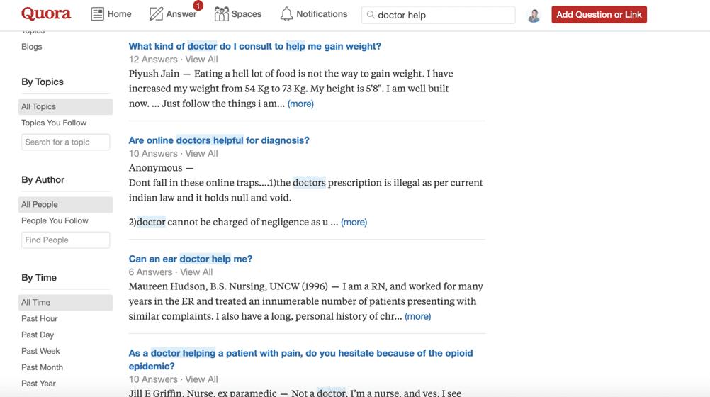 Marketing de prática médica no Quora