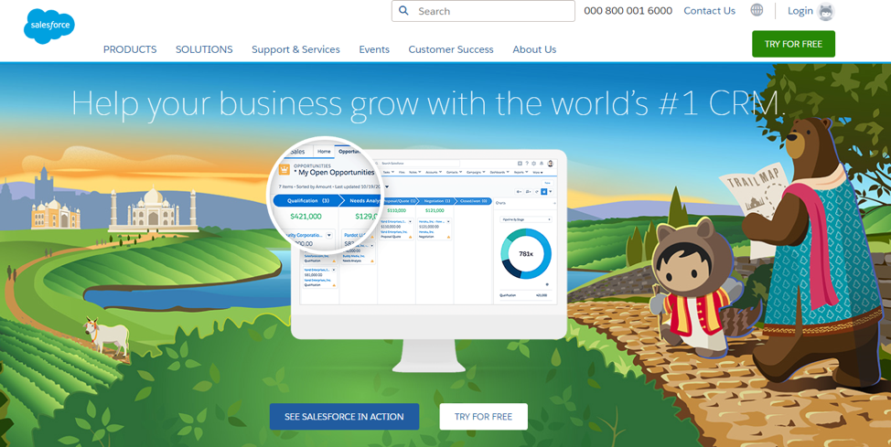 Salesforce call to action