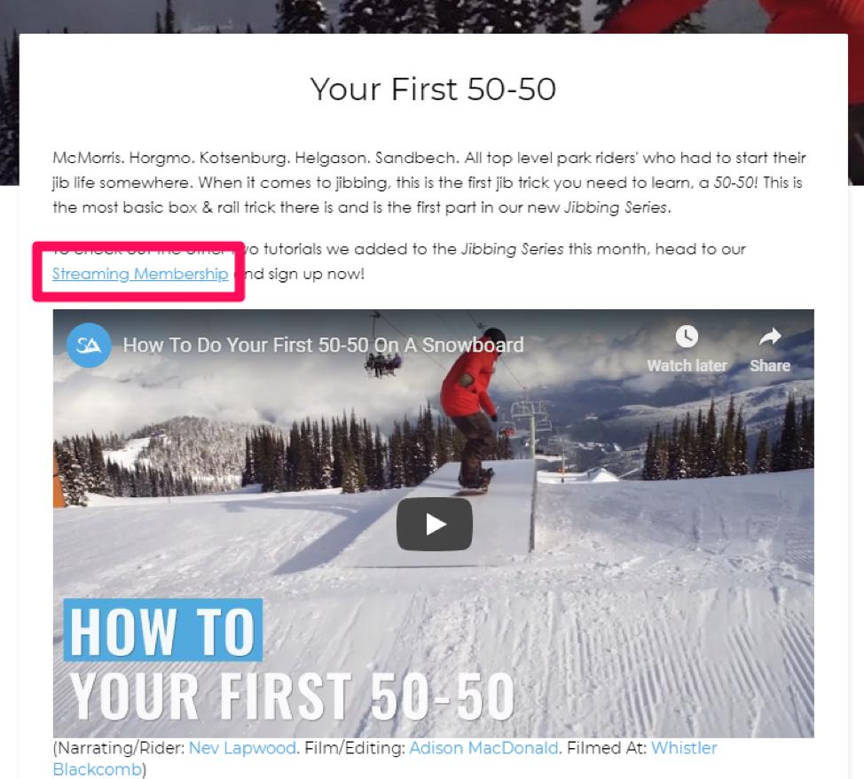 Snowboard Addictions demo video