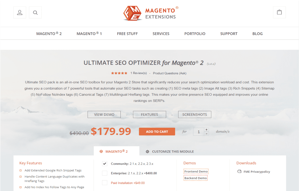 Technical product copy - Magento extensions