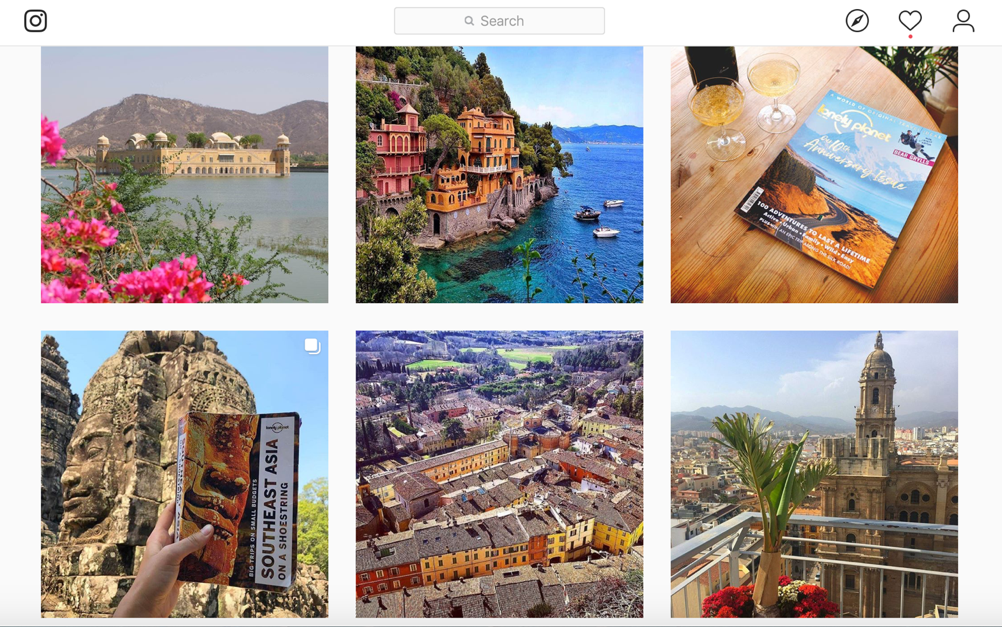 Travel content on Instagram