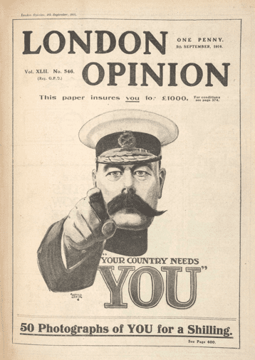 1914 Army recruitment poster